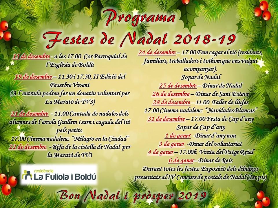22. Programa Nadal 2018