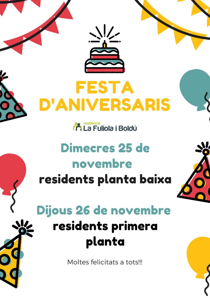 10. FESTA D'ANIVERSARIS novembre