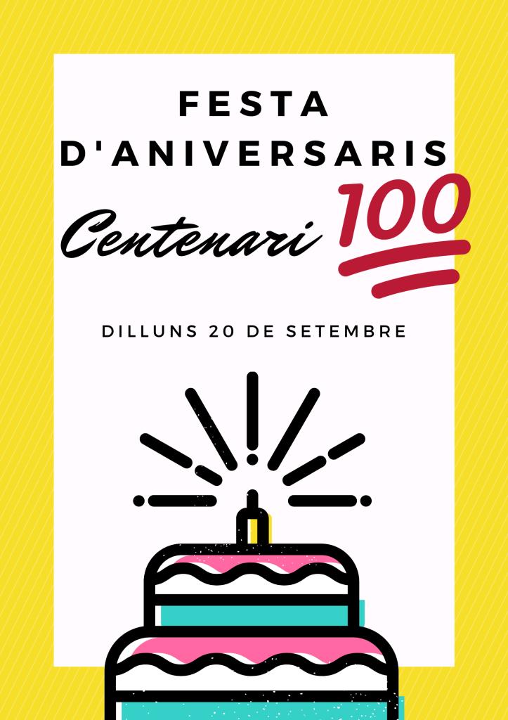 11. ANIVERSARIS SETEMBRE + CENTENARI