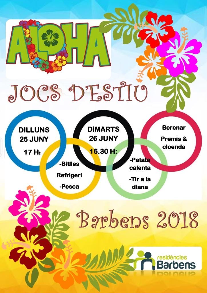 cartells jocs estiu 2018